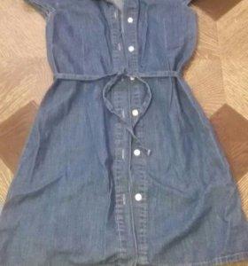 Платье джинсовое. Сарафан.