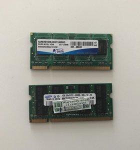 Оперативная память DDR2 2Gb (две планки по 1Gb)