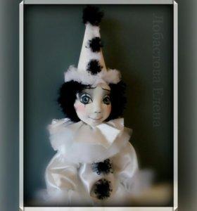 Авторская кукла Пьеро.