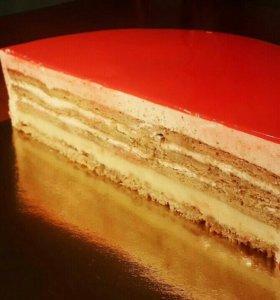 Муссовые и бисквитные торты 🍰