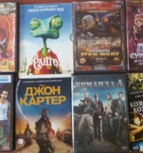 Диски на пк и фильмы,мульт