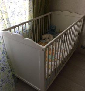 Кроватка детская IKEA с матрасом новая