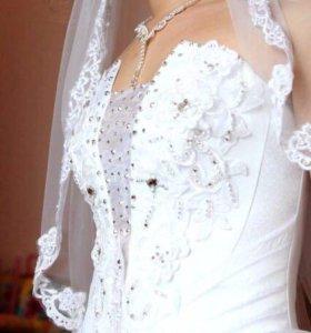 Свадебное платье размер 42-44, рост 160-165, тогр