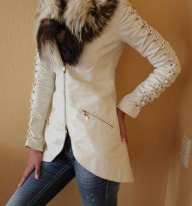 Куртка кожаная Италия. Philipp Plein inspired