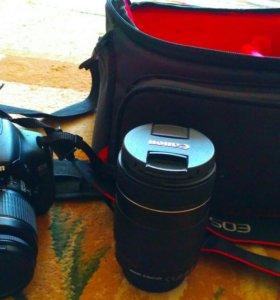 Canon 600 D + обьектив 18-135