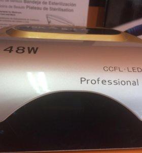 Лампа гибрид для сушки ногтей, гель лака 48 ватт