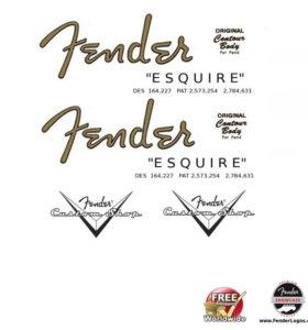 Fender логотипы-деколи-наклейки-стикеры gibson, ibanez и другие