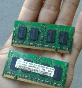DDR2 SAMSUNG 512mb для ноутбука