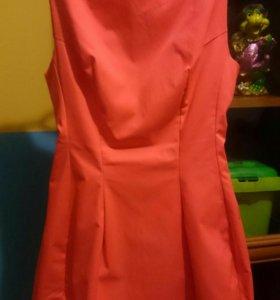 Платье, оранжевое, 42 размер.