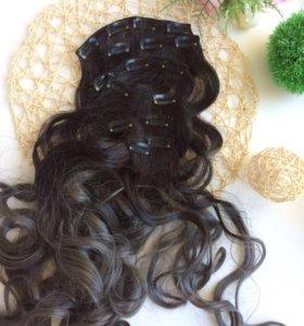 Пряди волос на клипсах