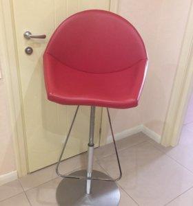 Барный стул кожа Италия