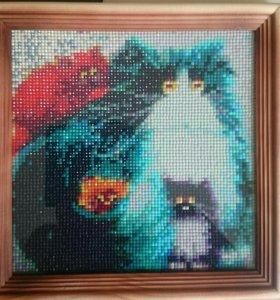 Картина Коты алмазная мозаика