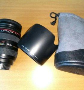Объектив Canon EF 24-70 mm 1:2.8 L USM +аксессуары