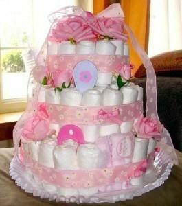 Торт из памперсов для новорожденных