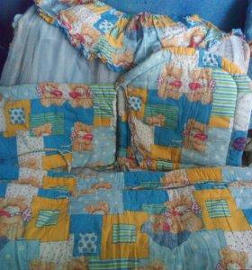 Балдахин и бортики в кроватку
