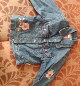 Джинсовый пиджак на подкладке