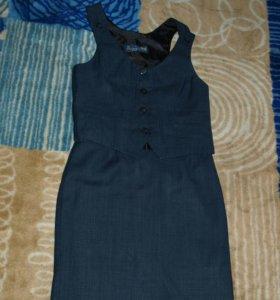 Школьная форма.Юбка,желетка,пиджак