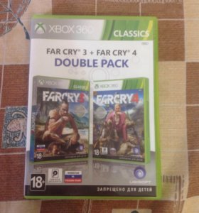 FARCRY 3,FARCRY 4 DOUBLE PACK для XBOX 360