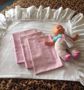 Постельное бельё для детской кроватки