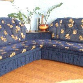 Угловой раскладной диван + раскладное кресло