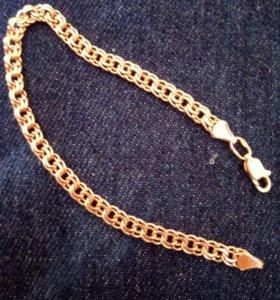 Новый,золотой браслет,цепочка,украшение.