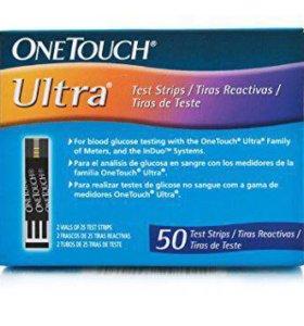 Тест полоски One touch ultra 50,