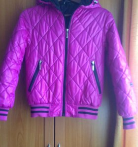 Куртка подростковая(малиновая,на фото цвет искажен