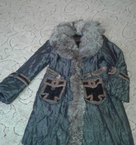 Пальто с подстежкой из мутона