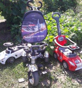 Велосипед и машинки для мальчика