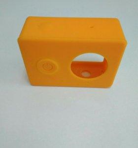 Силиконовый кейс для Xiaomi Yi (оранжевый)