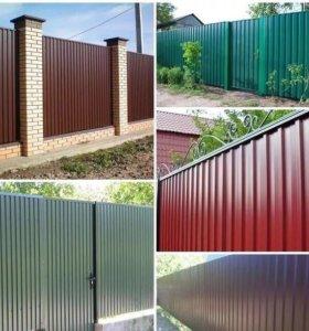 Изготовление и монтаж заборов ворот