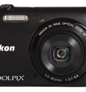 Никон фотокамера Coolpix S3600 20.1 МП камеры черный 8xZoom