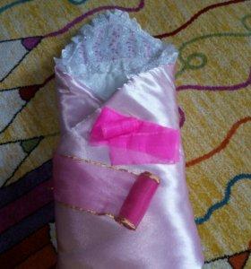 Одеялко на выписку для девочки