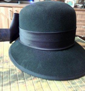 Фетровая,стильная шляпа.