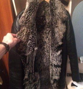 Зимняя кожаная куртка. 56 размер.