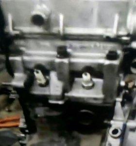 Мотор с коробкой от оки в сборе