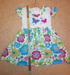 Платье летнее 1-2,5 года. Одежда вещи