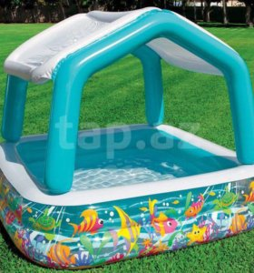 Надувной бассейн с навесом intex 57470