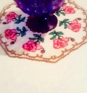 Салфетка декоративная из бисера