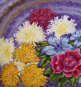"""Картина """"Осенний вальс. Цветы"""""""