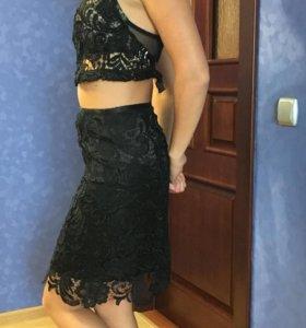 Юбка Prada  гипюровая новая