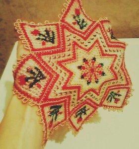 Декоративная салфетка из бисера