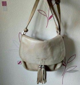 Кожаная сумка lancaster paris