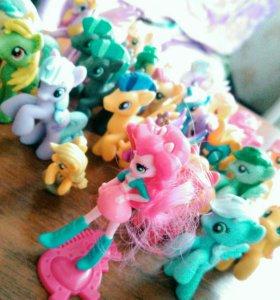 My Little Pony. Фигурки из пакетика, 28 штук.