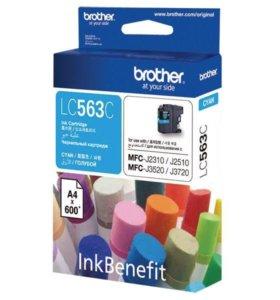 Brother LC563C, Струйный, голубой