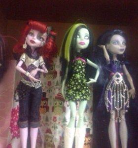 Куклы monster high, ever after high, bratz