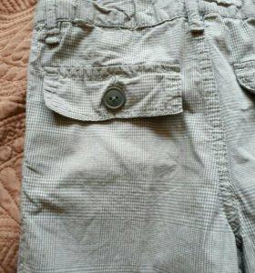 Летние брюки 2 в 1- 100% хлопок, 4-6 лет