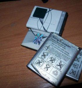 BST-38, BST-33 (Sony Ericsson), BL-5B - 1,5 шт. (Nokia, 1 оригинальный, один LIDER)