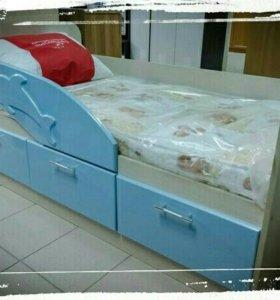 Кровать новая с матрасом Дельфин