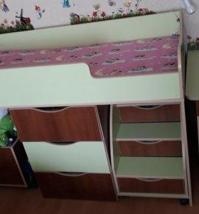 Детская кровать с матрасом Lonax.
